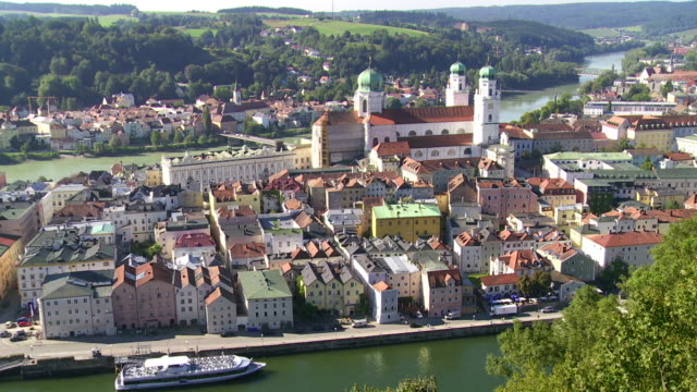 High Angle View of Passau in Bavaria PAN