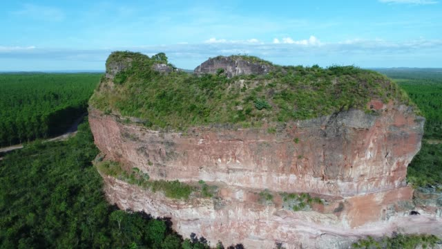 high angle view of pedra furada hill in jalapão state park, tocantins - cerrado stock videos & royalty-free footage