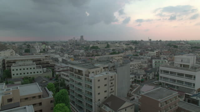 4k, high angle view of residential area in tokyo. japan. - 住宅点の映像素材/bロール