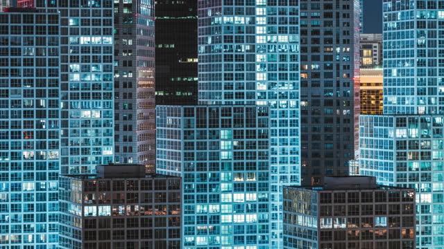 vídeos de stock, filmes e b-roll de t/l visão de alto ângulo de arranha-céus em pequim à noite - economia