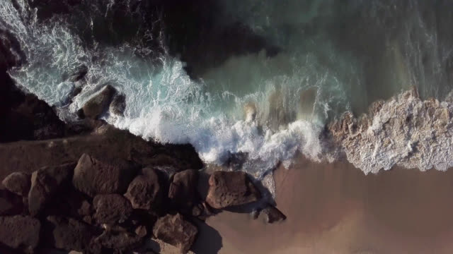 high angle view of the beautiful coastline - oregon coast stock videos & royalty-free footage