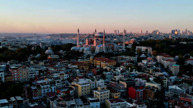 high angle view of the church of hagia sophia - turkish culture stock videos and b-roll footage