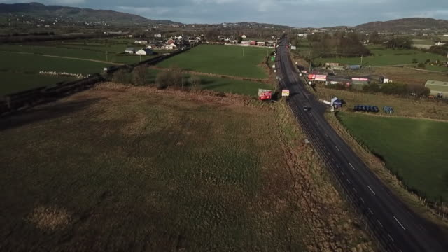 high angle view of the irish border - field stock videos & royalty-free footage