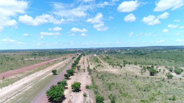 high angle view of the landscape of cerrado at mateiros city, tocantins, brazil - tocantins stock videos and b-roll footage