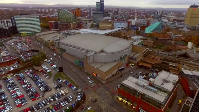 high angle view of the manchester arena - manchester arena stock videos & royalty-free footage