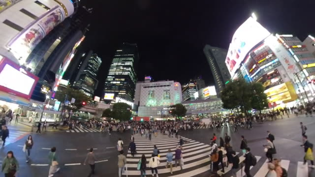 high angle view of the shibuya crossing in tokyo - tokyo japan stock videos & royalty-free footage