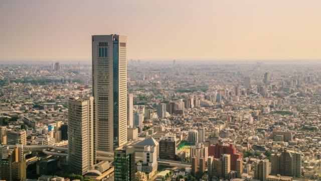 東京都心の高角度のビュー