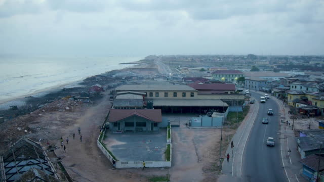 high angle view over accra, ghana - ghana stock videos & royalty-free footage