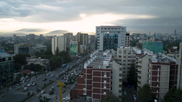 high angle view over congested african city of addis ababa, ethiopia - horn of africa stock videos & royalty-free footage