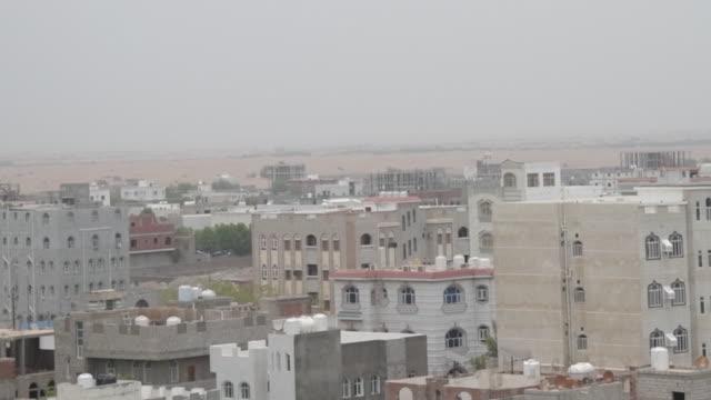high angle view over hodeida, yemen - air raid stock videos & royalty-free footage