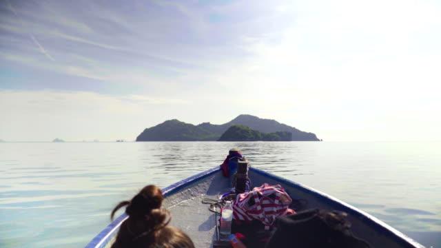 erhöhte Ansicht über Menschen Kopf: gehen Sie auf Koh Kula Insel, Provinz Chumphon