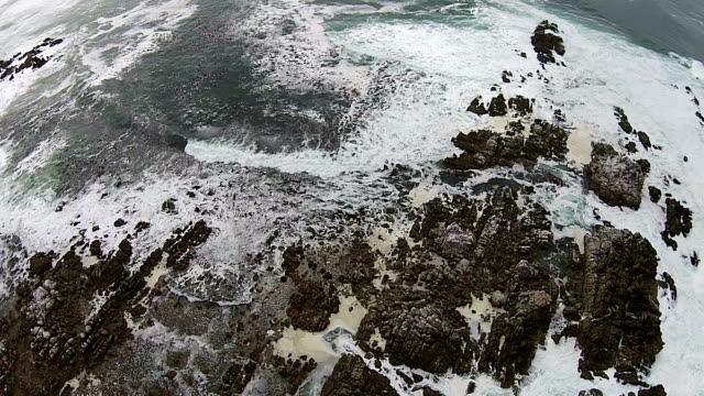 high angle view over the sea - tide pool stock videos and b-roll footage
