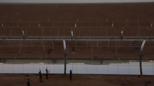 godawari solar-thermal power plant - reflector stock videos & royalty-free footage