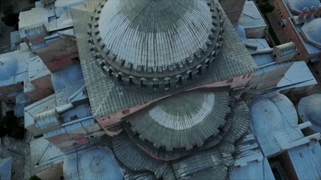 high angle views of the hagia sophia - istanbul stock videos & royalty-free footage