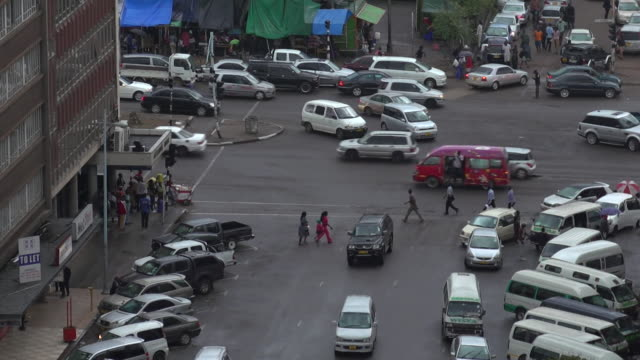 high angle views over harare zimbabwe - harare stock videos and b-roll footage
