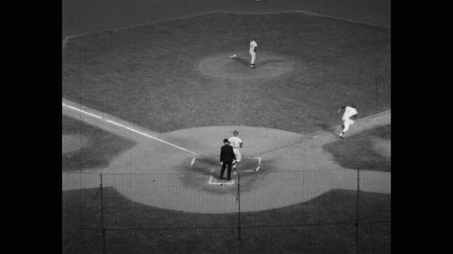 high angle zoom in shot of baseball player hitting ball during game, dodger stadium, los angeles, california, usa - medium group of people stock videos & royalty-free footage