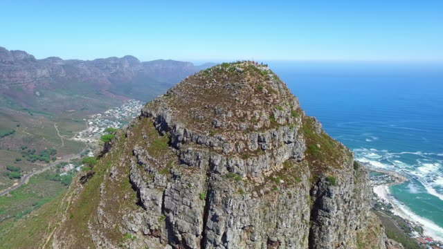 high atop lions head - western cape province stock videos & royalty-free footage