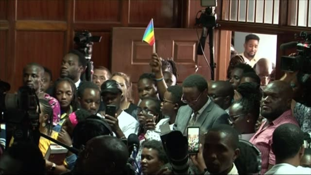 high court decides against decriminalising homosexuality kenya nairobi int various of gay rights campaigners in court room as their attempt to... - homosexual stock videos & royalty-free footage
