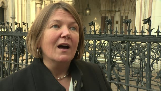 high court rules extinction rebellion protest ban unlawful england london royal courts of justice ext ellie chowns mep interview sot - court stock videos & royalty-free footage