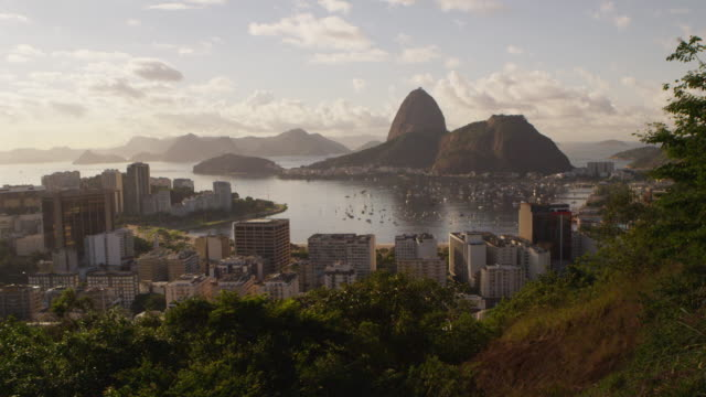 High definition, static, footage of Rio de Janeiro, Sugarloaf, and Guanabara Bay.