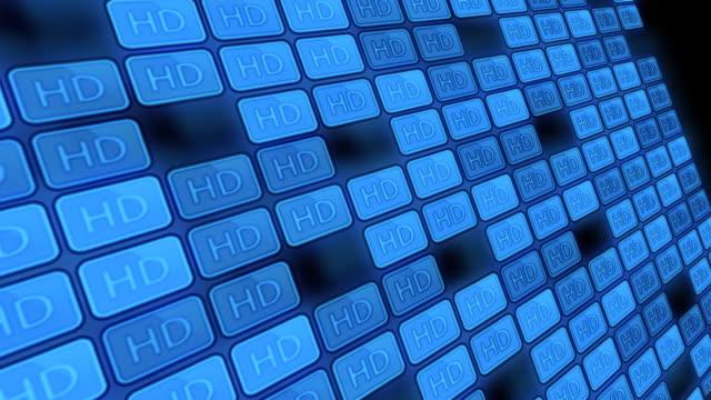 hd 高 definiton テレビスクリーン - 沢山の物点の映像素材/bロール