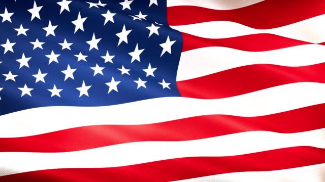 hög detalj amerikanska flaggan sömlös loop - amerikanska flaggan bildbanksvideor och videomaterial från bakom kulisserna