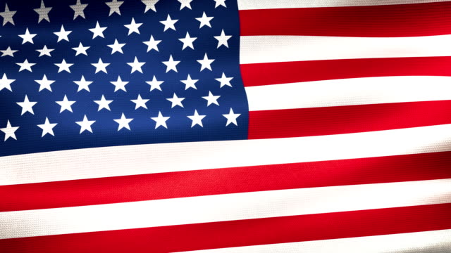 high detail american flag seamless loop - stars and stripes stock videos & royalty-free footage