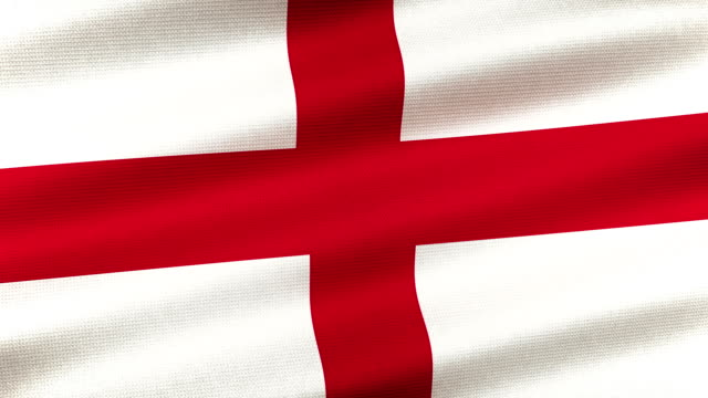 vidéos et rushes de high detail english flag seamless loop - angleterre