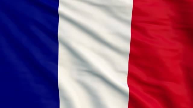 high detail flag of france - french flag stock videos & royalty-free footage