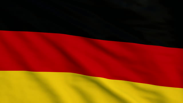 high detail flag of germany - national flag stock videos & royalty-free footage