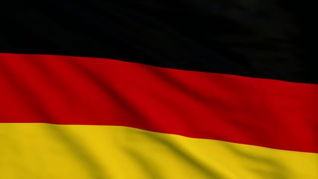 vidéos et rushes de pavillon de détail élevé de l'allemagne - drapeau national