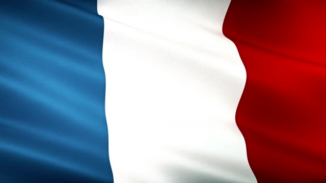 high detail french flag seamless loop - national flag stock videos & royalty-free footage