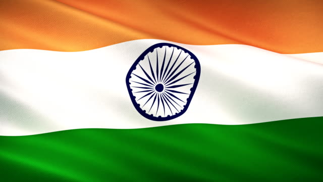 high detail india flag seamless loop - voting stock videos & royalty-free footage