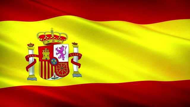 high detail spanish flag seamless loop - identity politics stock videos & royalty-free footage