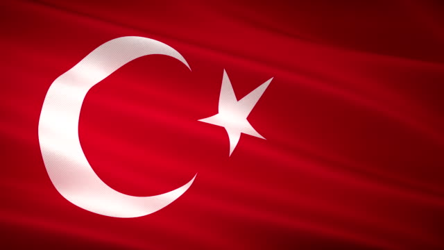 High Detail Turkish Flag Seamless Loop