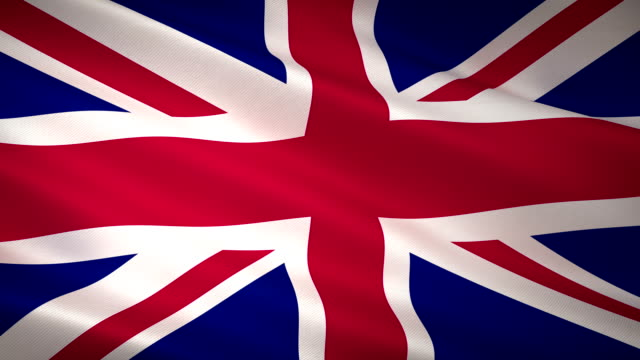 high detail united kingdom flag seamless loop - national landmark stock videos & royalty-free footage
