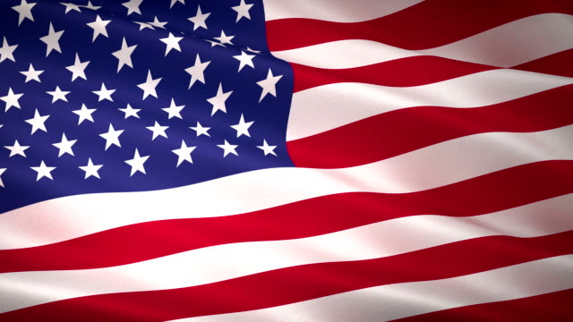 high detail usa american flag seamless loop - wave stock videos & royalty-free footage