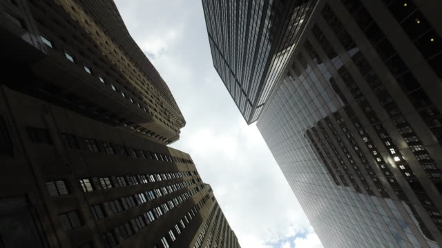 High Elevation view of Skyscrapersin downtown Chicago