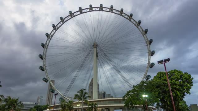 vídeos y material grabado en eventos de stock de alta flyer en día nublado - big wheel