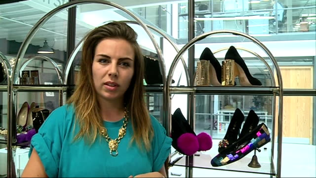 High heel shoes causing damage to women's feet London Close shot of Cleo Barbourdesigned high heel shoe 'Cleo B' name on shoe's tongue Cleo Barbour...