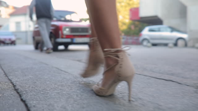 high heels on the street - street style stock videos & royalty-free footage