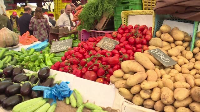 high inflation in tunisia is hitting many of those shopping for provisions in the muslim fasting month of ramadan hard - tunisia stock videos & royalty-free footage