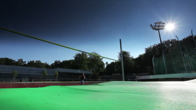 high jump athlete - males stock videos & royalty-free footage