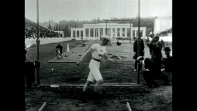 high jump competition at the 1906 intercalated olympic games - panathinaiko stadium stock videos & royalty-free footage