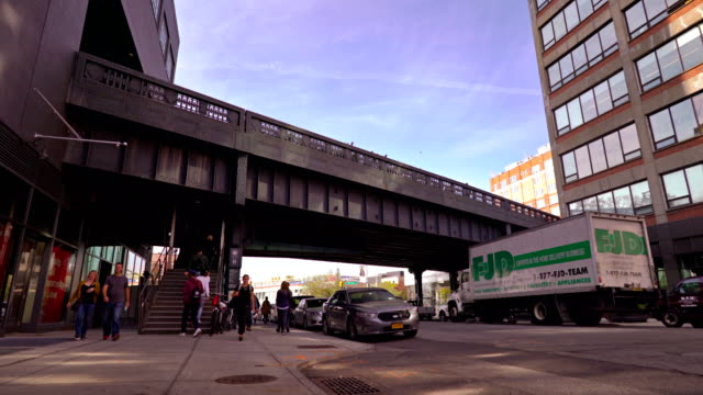 high line park from 14th street - chelsea new york stock videos & royalty-free footage