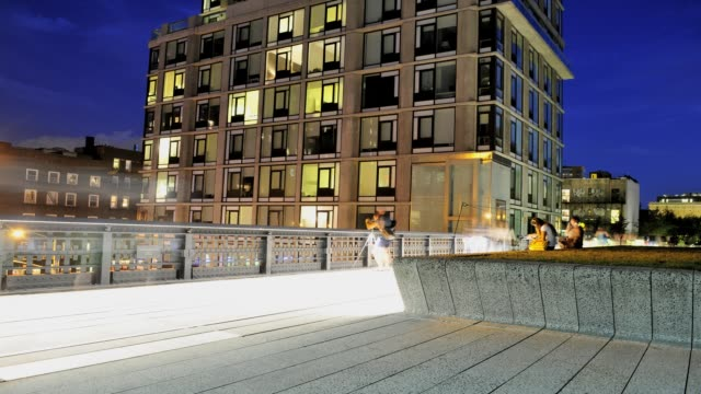 high line public park, lower west side, manhattan, new york city, usa time lapse, high line park, new york city on august 27, 2013 in new york city,... - 2013 stock videos & royalty-free footage