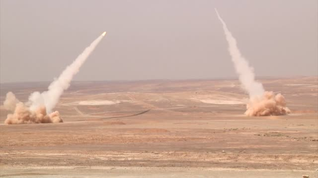 high mobility artillery rocket system himars event during exercise eager lion 2014 - rocket launcher stock videos & royalty-free footage