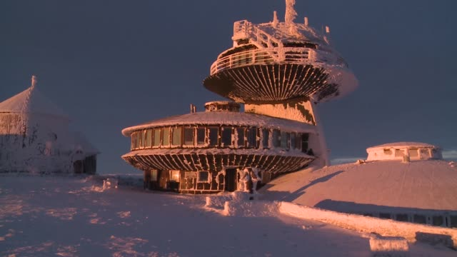 high mountain weather observatory at sniezka mountain - chapel stock videos & royalty-free footage