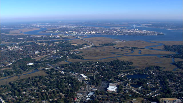 High Over Charleston  - Aerial View - South Carolina,  Charleston County,  United States