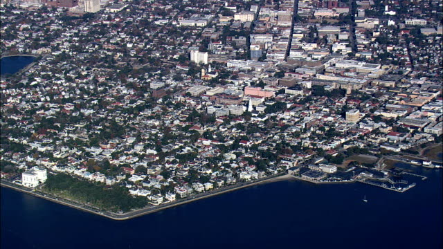 High Over Charleston  - Aerial View - South Carolina,  Charleston County,  United States